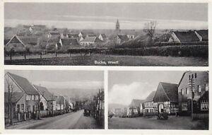 Ansichtskarte Nordrhein - Westfalen   Buke  Straßen und Gesamtansicht  1951
