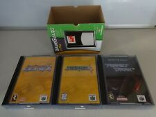 3 Nintendo 64 N64 Games in Game Guard Pak Jet Force Gemini Starfox Perfect Dark