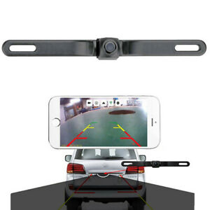 Wifi HD Rear View Reverse Backup Camera Adjustable Lens For Car License Plate