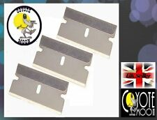 3 x One Sided Safety Blades For Slicing Nail Art Canes Oven Clean, Cleaning  UK