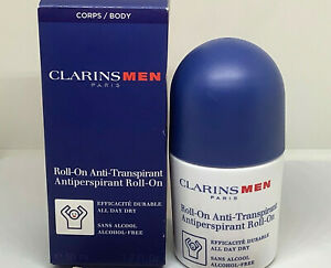 CLARINS MEN  ANTI PERSPIRANT ROLL-ON  ALCOHOL FREE TRANSPIRANT 1.7oz/50ml BOX