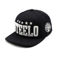 Unisex Mens Womens Rubber Steelo Diamante Baseball Cap Snapback Hats Black