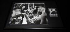 Hugh Hefner 12x18 Framed Photo & Topps Card Display Playboy