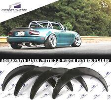 MX5 Miata Mazda Fender Flares WHEEL Arches Wide Body Extension 3.9 SET 4 PCS ABS