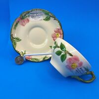 Vintage Franciscan Desert Rose Coffee CUP and SAUCER California Pottery teacup a