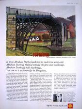 1967 SHELL Oil Advert Ironbridge, Shropshire - Eric Thomas Art Print AD