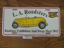 2012 L.A. LA Los Angeles Roadster Roadsters license plate unused hot rod Calif