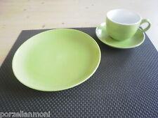 Kaffeegedeck 3 tlg. grün Steingut  Neu