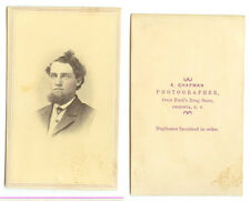 CDV MAN W/ WILD HAIR & TINTED CHEEKS