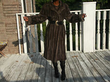 Full length Natural Blue Iris Sapphire Mink Fur Coat Jacket stroller S-M 2-10/12