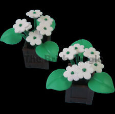 Custom LEGO Lush Flower Plants Box tree  - suit train / city / castle sets