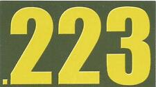 """Vinyl Ammo Can Magnet label """".223 Bold"""""""