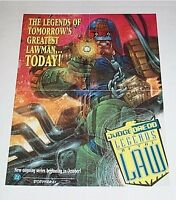 1994 Judge Dredd Legends of the Law 22 x 17 DC Comics promotional promo poster 1