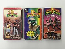 Power Rangers VHS Tapes Lot of 3 Dreaming of a White Ranger Happy Birthday Zack