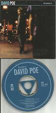 DAVID POE w/ MARC RIBOT Ballad of 4TRX w/ 2 RARE LIVE TRX BONUS PROMO CD single