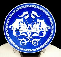 "ROYAL COPENHAGEN MORS DAG MOTHER DAY 1977 BLUE WHITE 6"" WALL PLATE"