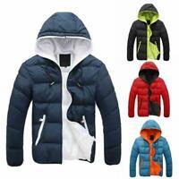 Warme Winter gepolsterte Kapuzenjacke für Herren Outwear Zipper Coat