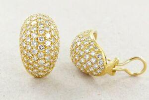 Design-Ohrstecker mit Diamanten 3,8 Carat 750er Gold 18k VS-G