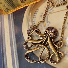 Pirates of the Caribbean Octopus Person Vintage Necklace Sweater Chain Gift