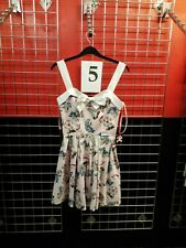 Ladies Dress HELL BUNNY Fairground Ferris wheel Tattoo Size Large Pink