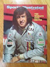 Formula One Racing JACKIE STEWART Sports Illustrated 9/6/71 Magazine No Label