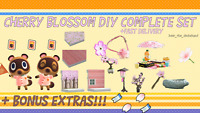 COMPLETE Cherry Blossom DIY Set: Animal Crossings New Horizons