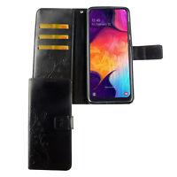 Samsung Galaxy A50 Étui Coque pour Portable Sac de Protection Clapet Housse Noir