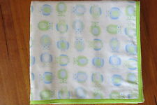 Baby blanket, handmade, double thickness, extra large- Owls on white