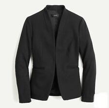 NWT JCrew 365 Going Out Blazer Sz 16 Career/Work Black Stretch Twill Lined NEW