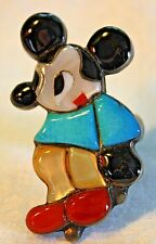 ZUNI VINTAGE WALT DISNEY MICKEY MOUSE STERLING RING SIGN CMP CHARLES MARY PONCHO