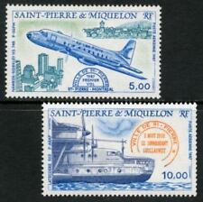 St Pierre & Miquelon: 1987 Aircraft Airmails (C61-C62) MNH