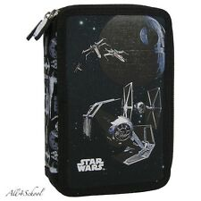 NEW DISNEY STAR WARS PENCIL CASE WITH EQUIPMENT FOR KIDS SCHOOL