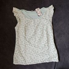 Oasis Size Small Pale Mint Top BNWT £RRP £35 Free P&P