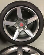"Original Jaguar XE 18"" Diamond Turned Star Alloy Wheels and Pirelli - Set of 4"