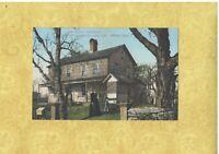 CT Wilton rare 1908-14 antique postcard BENIENT HOMESTEAD 1700 CONN