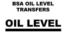 BSA niveau huile et les transferts autocollants D50025 A10 A7 B31 B33 M20 M21 C10 C11 C12