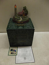 Thomas Kinkade The Light Of Peace Lighted Lighthouse Seaside Memories Loa Box