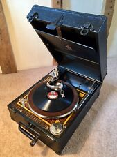 """A Quality Rare Luxury""""Dulcetto""""Wind Up Portable Gramophone c1930s~Fully Serviced"""