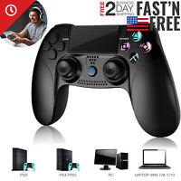 Black Slim Wireless Controller Gamepad for Playstation 4 Pro/Slim, PC, Smart Tv