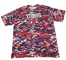 Mountain View Toros Dry Fit Shirt Size 2XL 2X Adult Red Digital Camo Shortsleeve