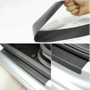 4PC Accessories Carbon fiber anti-friction strip door sill wear protection 3D