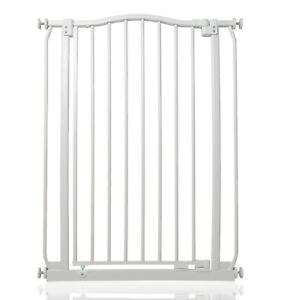 Safetots Premium Extra Tall and Wide Dog Gate Matt White Pet Barrier 71cm-280cm