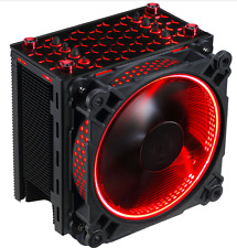CPU air cooler Temper glass Red LED