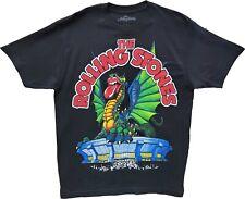 Men's The Rolling Stones Black Vintage Dragon Venue Retro Band T-Shirt Tee New