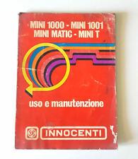 Manuale uso e manutenzione MINI 1000, MINI 1001, MINI MATIC, MINI T ORIGINALE