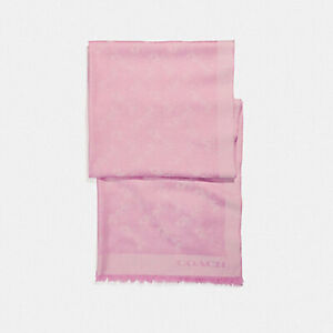 COACH Bicolor Horse and Carriage Oblong Scarf Blush RRP£195 F26587 -STUNNING!