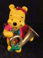 Winnie the Pooh Season of Song POOH BLOWING HORN ORNAMENT