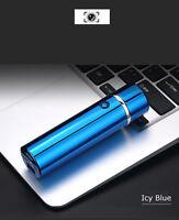 Electric Triple Arc Plasma USB Recharge Flameless Windproof Lighter JL109 XL Blu