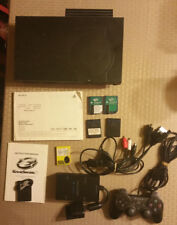 Sony PlayStation 2 w/ Flip Lid, Network Adapter, Hard Drive, and GAMES!!!!!!!!!!