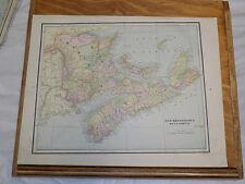 1891 CRAM Map/NEW BRUNSWICK,NOVA SCOTIA b/w QUEBEC Canada